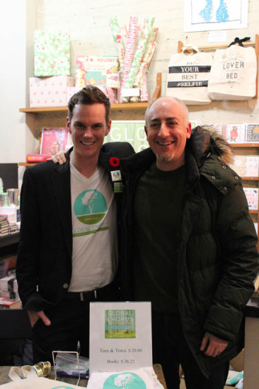 Global Chorus contributor Richard Zimmerman and Todd at Launch in Toronto, ON, Nov, 2014