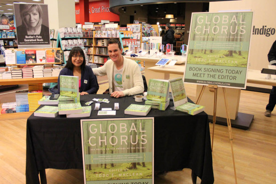 Cofounder of Idle No More and Global Chorus contributor Sylvia McAdam Saysewahum and Todd at Book Signing in Regina, Sask, Nov, 2014