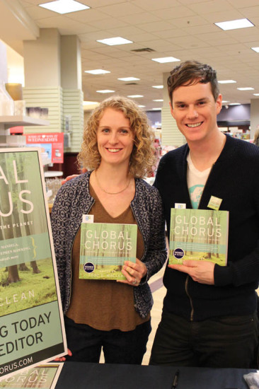 Global Chorus contributor Alexia Lane and Todd at Book Signing in Edmonton, AB, Nov, 2014