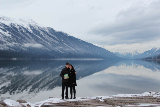 Todd and Savannah with Global Chorus at Mount Robson Provincial Park, BC, Nov, 2014