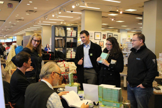 Global Chorus contributors Annette Saliken, Arran Stephens and Jason Robinson with Todd at Book Signing in Vancouver, BC, Nov, 2014