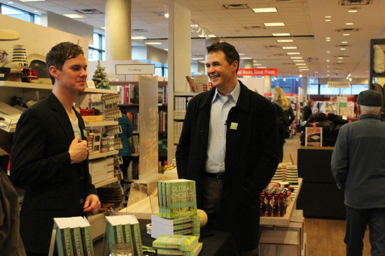 Global Chorus contributor Jason Robinson and Todd at Book Signing in Vancouver, BC, Nov, 2014
