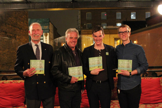 Global Chorus contributors David Anderson, Bob McDonald and Ryan Vandecasteyen with Todd in Victoria, BC, Nov, 2014