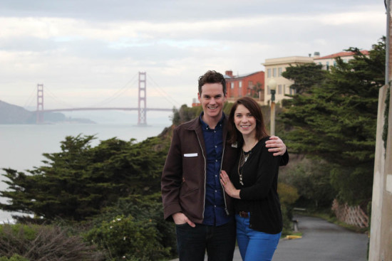 Todd and Savannah in San Francisco, CA, Dec, 2014